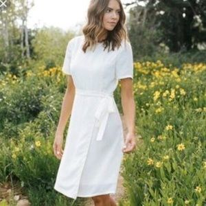 Mod Ref cream wrap dress